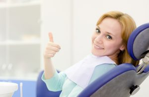 young girl in the dental clinic